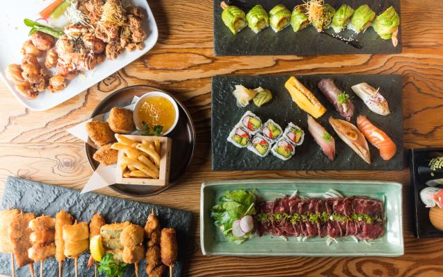 Variety of Japanese dishes