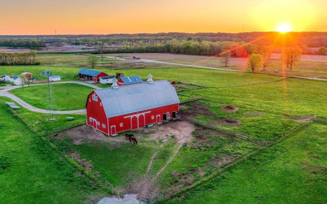 Farm at Prophetstown Aerial view