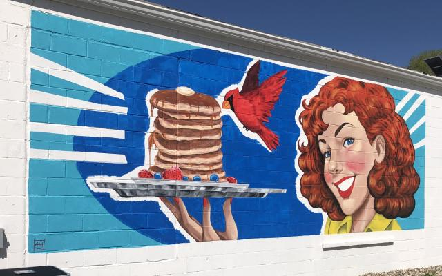 Trisha's Red Bird Café Mural