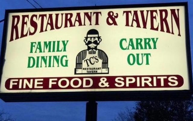 TCs Restaurant Sign
