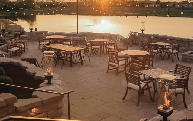 Walt's Pub Outdoor Patio Sunset