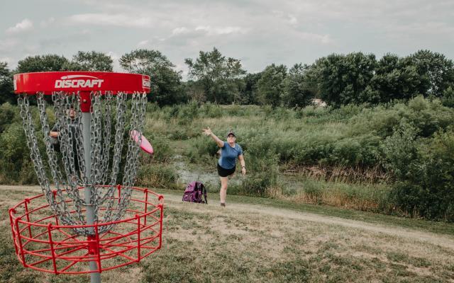 disc golf at Wabash Washout