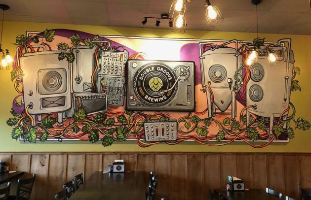 Double Groove Brewing Full Mural