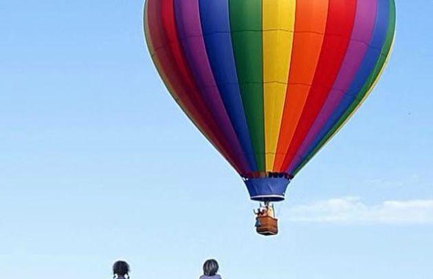 Rainbow Balloon w/kids