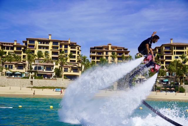 Flyboarding at Medano Beach