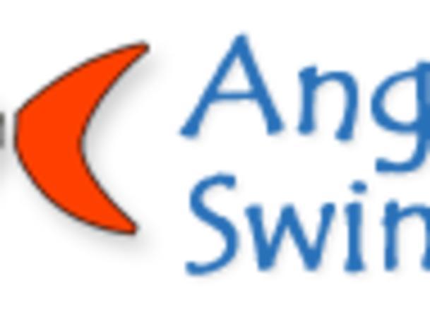 Angelfish Swimming Logo