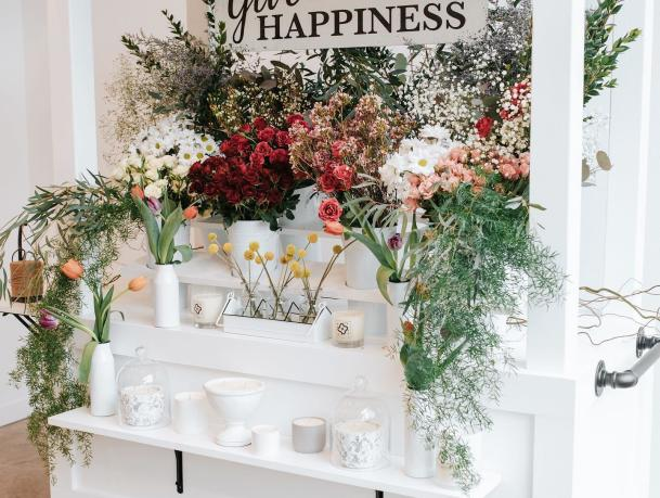 Sweet Serenity flower cart
