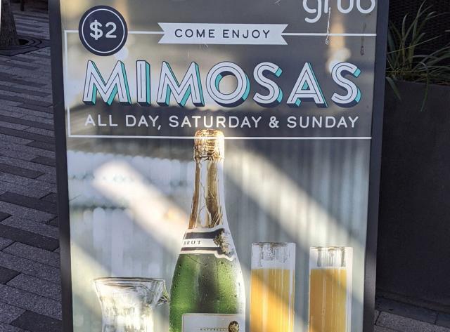 $2 Mimosas on Weekends