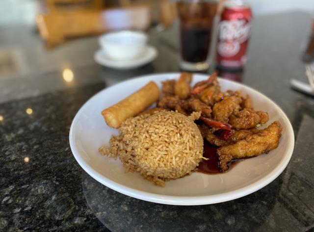 Orange Chicken with Fried Rice