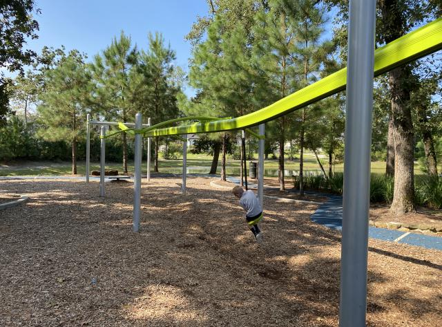 Zipline at Smooth Stream Park