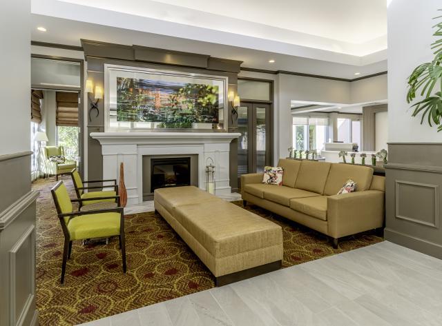 Hilton Garden Inn Lobby Fireplace