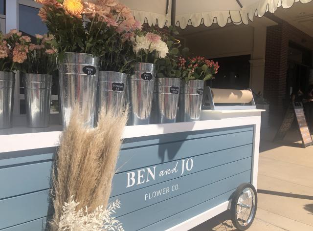 Ben & Jo Flower Cart at Market Street