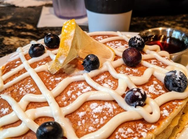 Lemon ricotta pancakes at Black Walnut Café