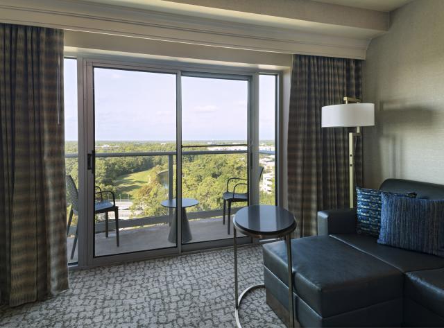 The Woodlands Waterway Marriott King Suite Living Area