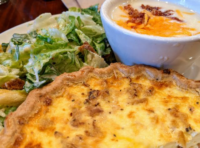 Quiche with Soup and Salad from La Madeleine