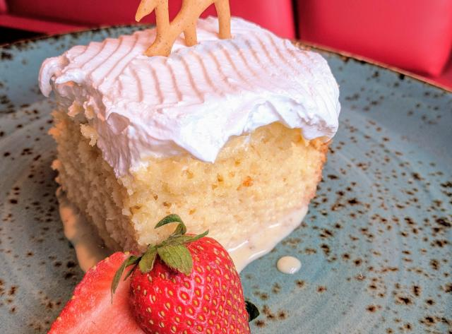 Tres Leche Cake at Churrascos