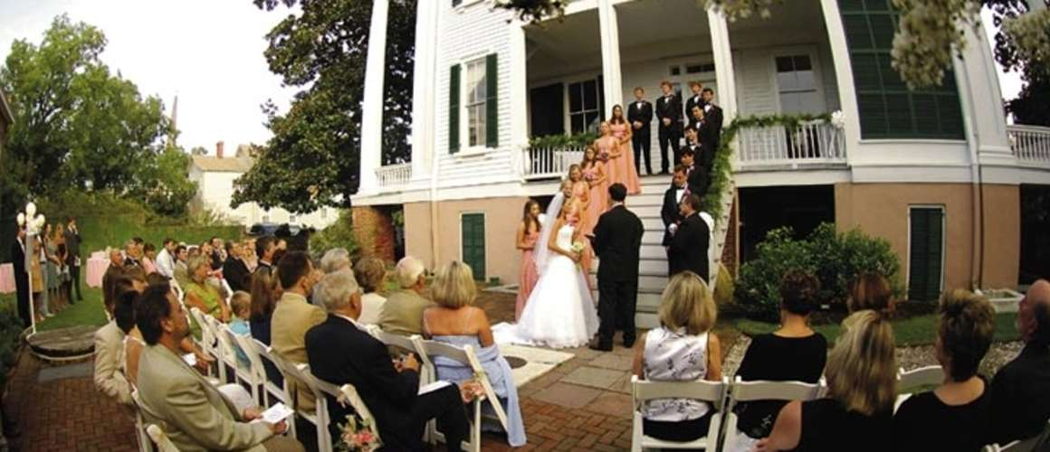 Outdoor Wedding at Bellamy Mansion