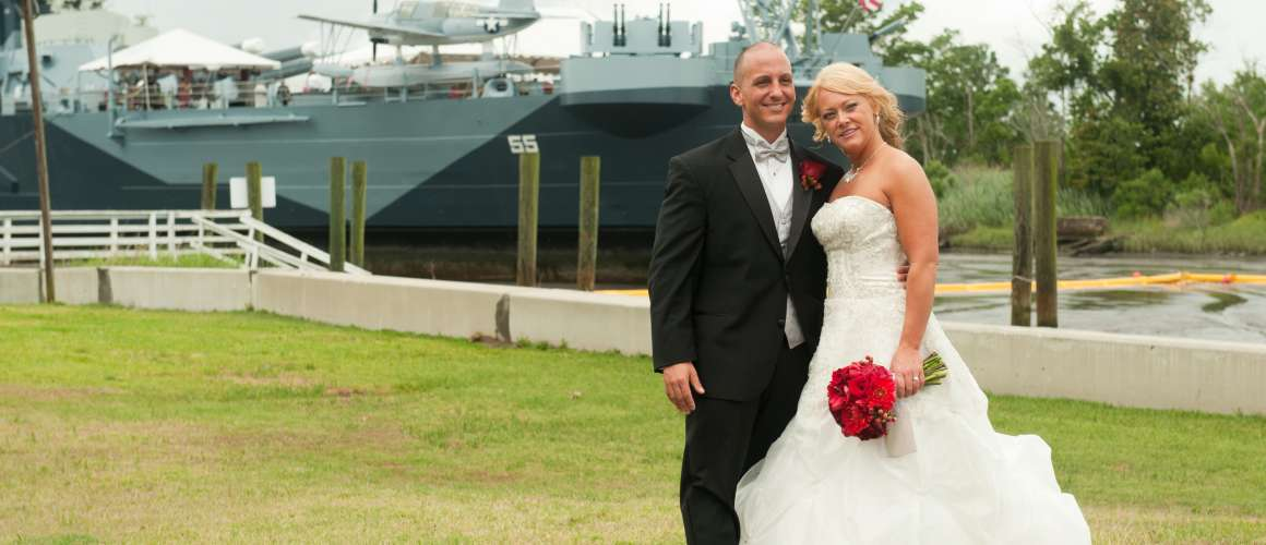 Battleship NORTH CAROLINA wedding