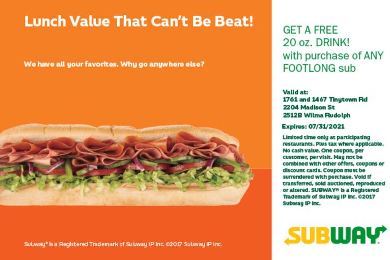 Subway AAU Offer