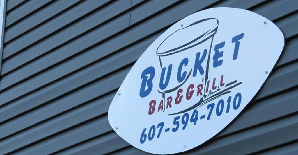 Bucket Bar & Grill - Exterior Sign