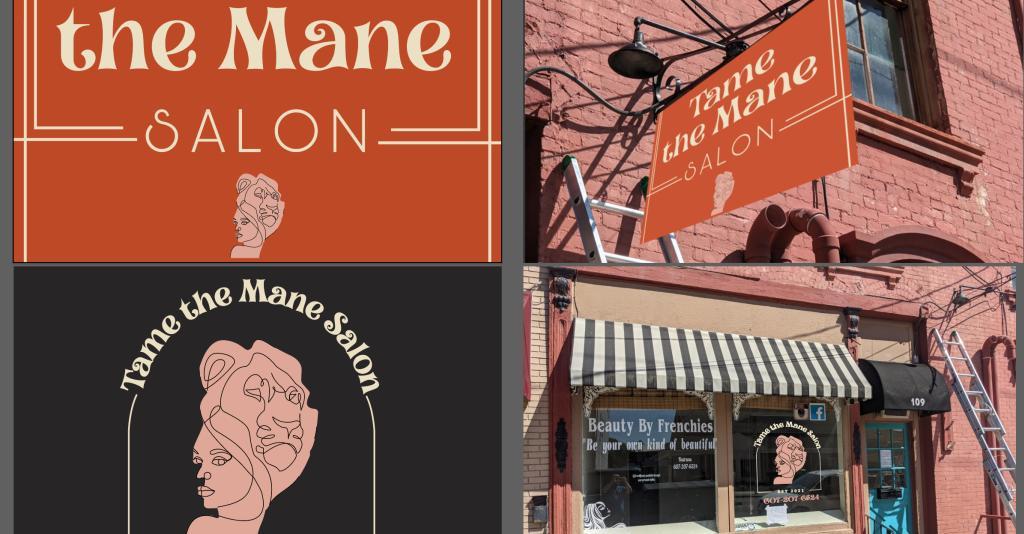 Tame the Mane Salon - Logo Banner