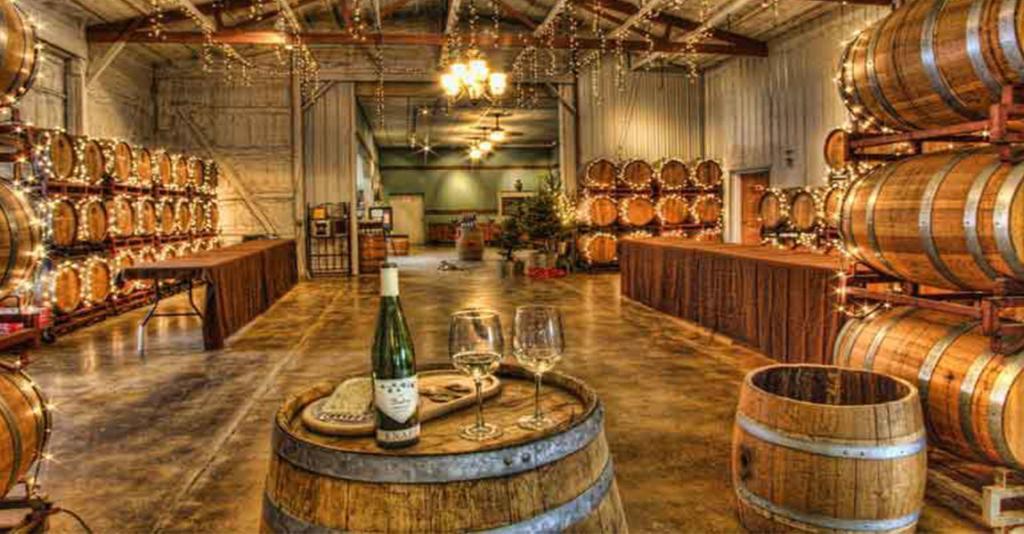 Knapp Vineyards - Interior Barrel Room