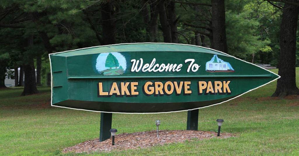 Lake Grove Park - Roadside Sign