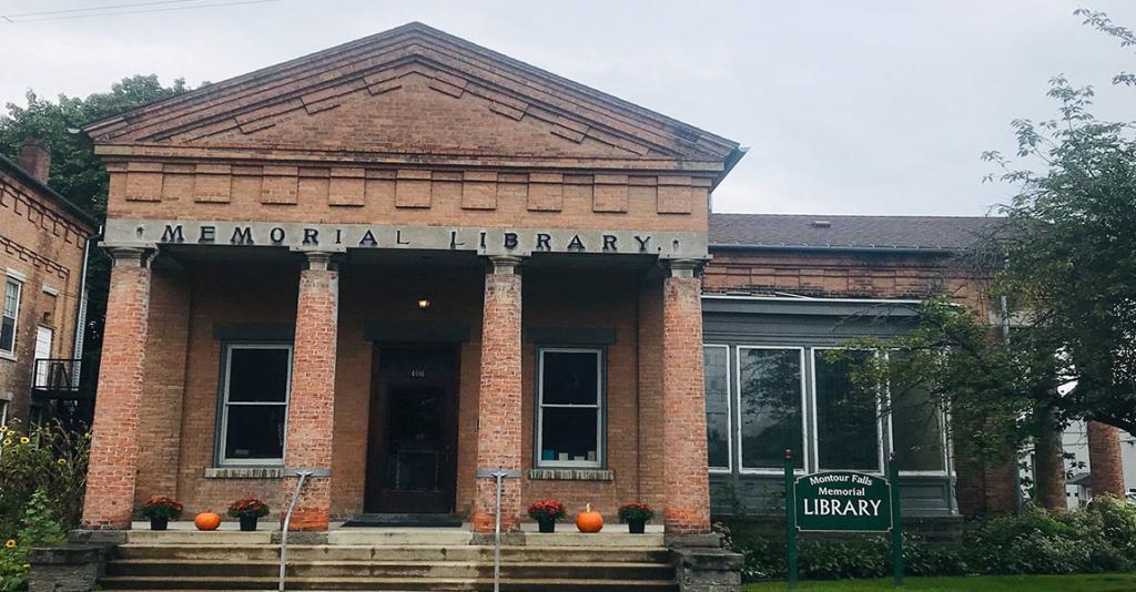 Montour Falls Library - Fall Exterior