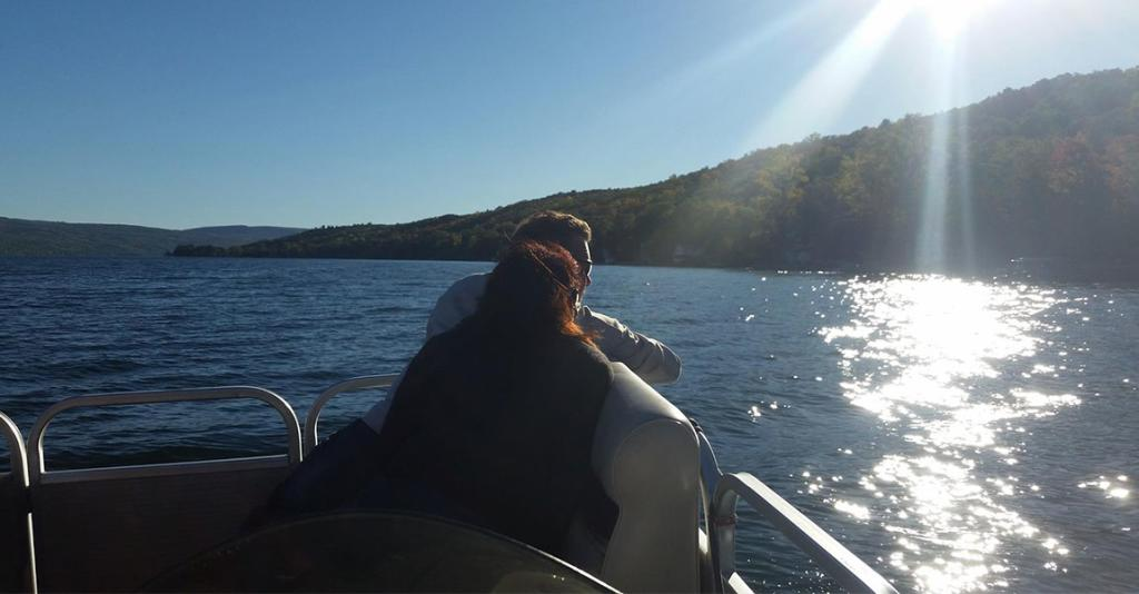 OnKeuka! Outings - Couple on Boat
