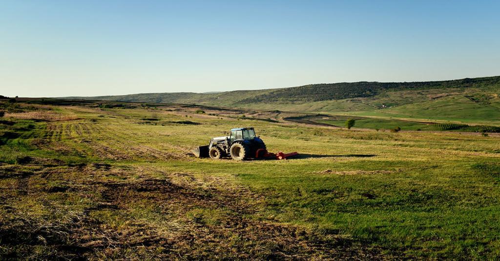 Schuyler County Farm Bureau - Tractor in Field