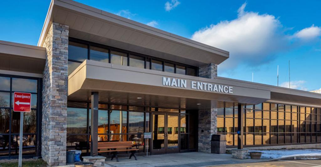 Schuyler Hospital - Main Entrance Exterior