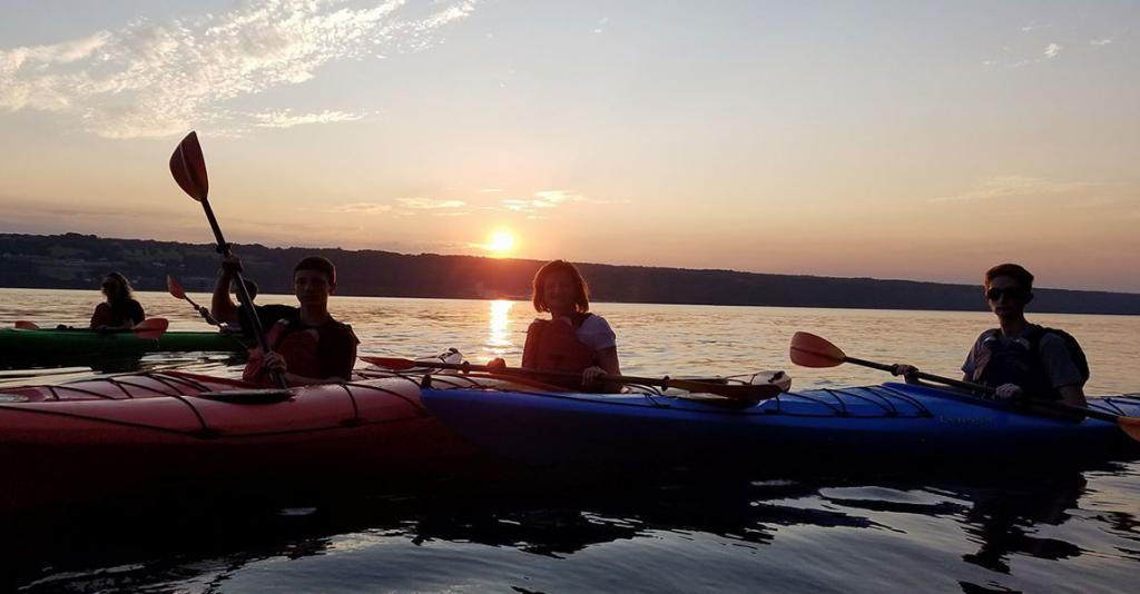Seneca Lake Kayak - Kayakers at Sunset