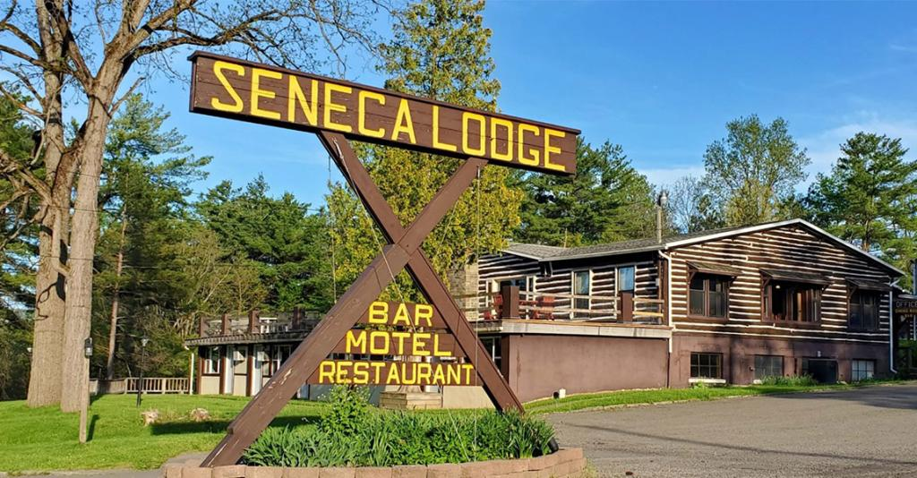 Seneca Lodge - Building Exterior & Sign