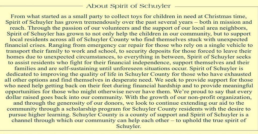 Spirit of Schuyler - About Us Banner
