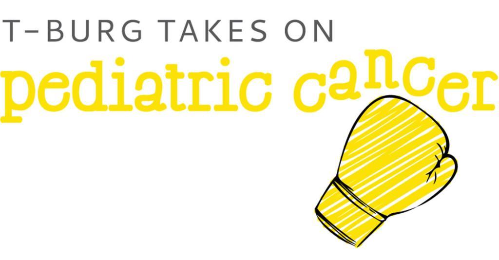 T-Burg Takes on Pediatric Cancer - Logo Banner