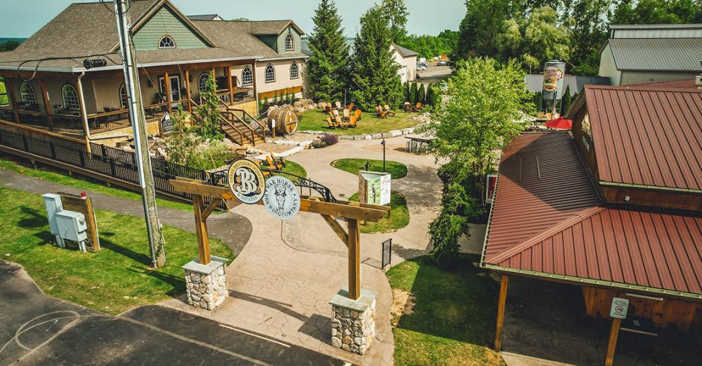 Three Brothers Wineries & Estates - Exterior Entrance Aerial