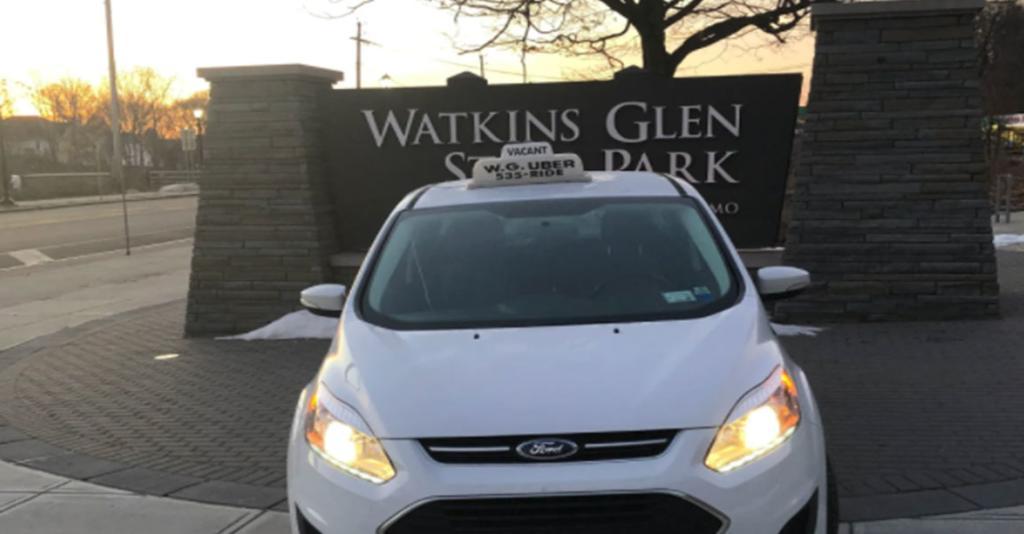 WG Uber - Uber & Watkins Glen State Park Sign
