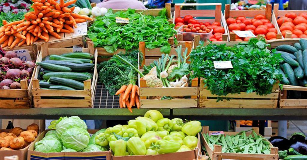 Watkins Glen Farmers Market - Vegetables in Crates