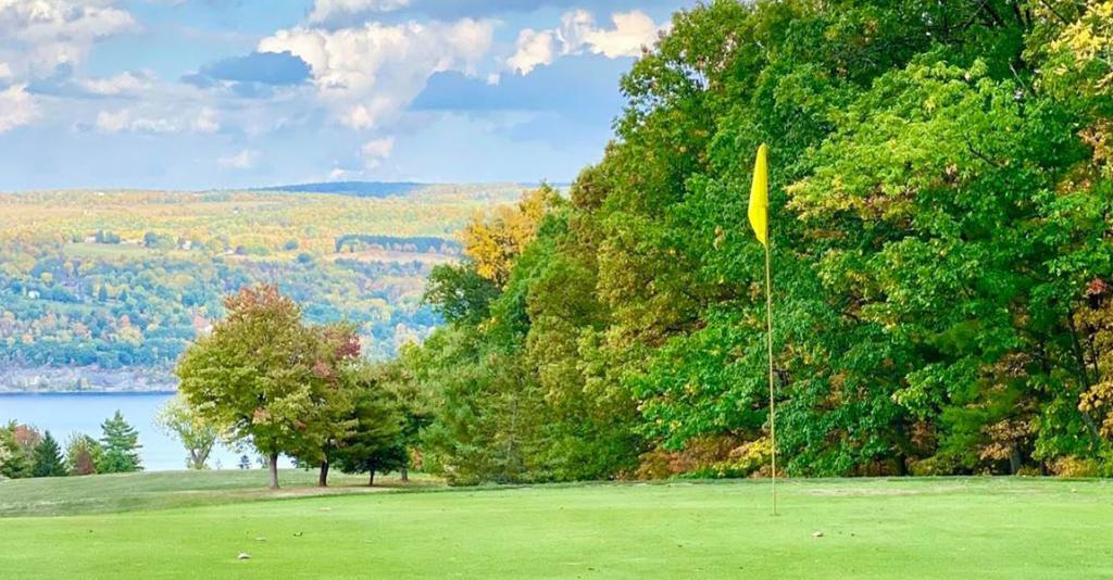 Watkins Glen Golf Course - Green Overlooking Seneca Lake