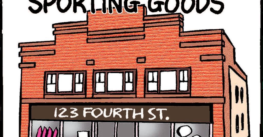 Watkins Sporting Goods - Building Cartoon