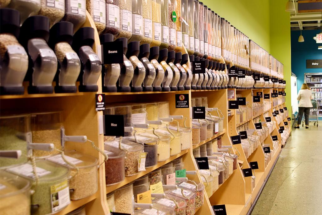 Bulk aisle (buy as much or as little as you want)