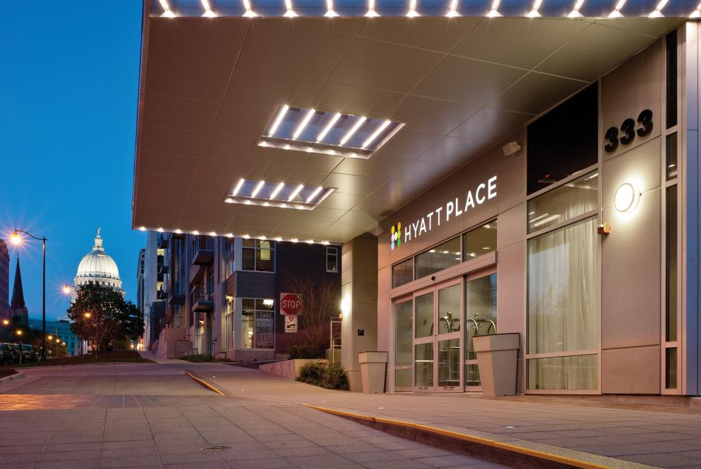 Hyatt Place Madison Downtown Entrance