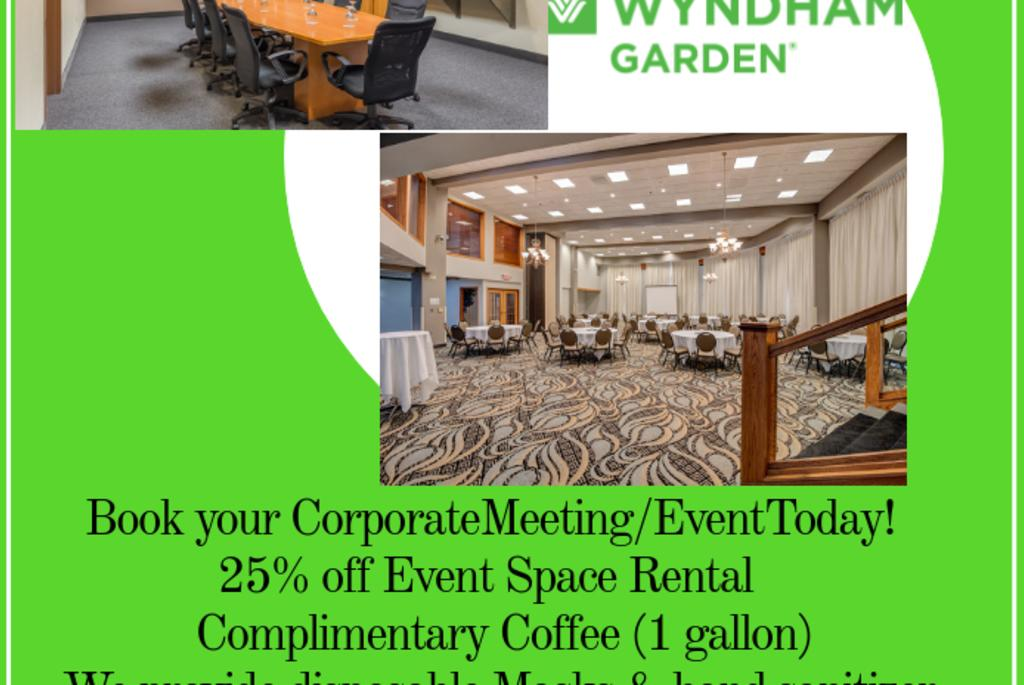 Book Your Corporate Meeting/Event Today