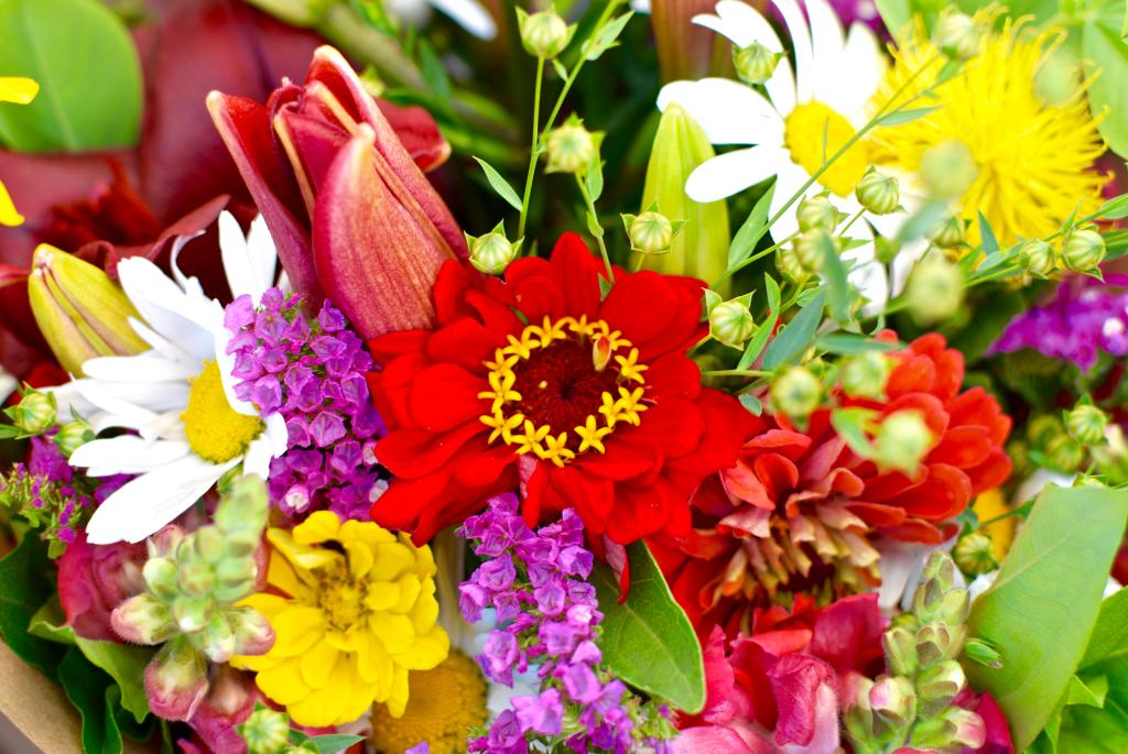 A beautiful fresh flower bouquet grown with care by our farmers