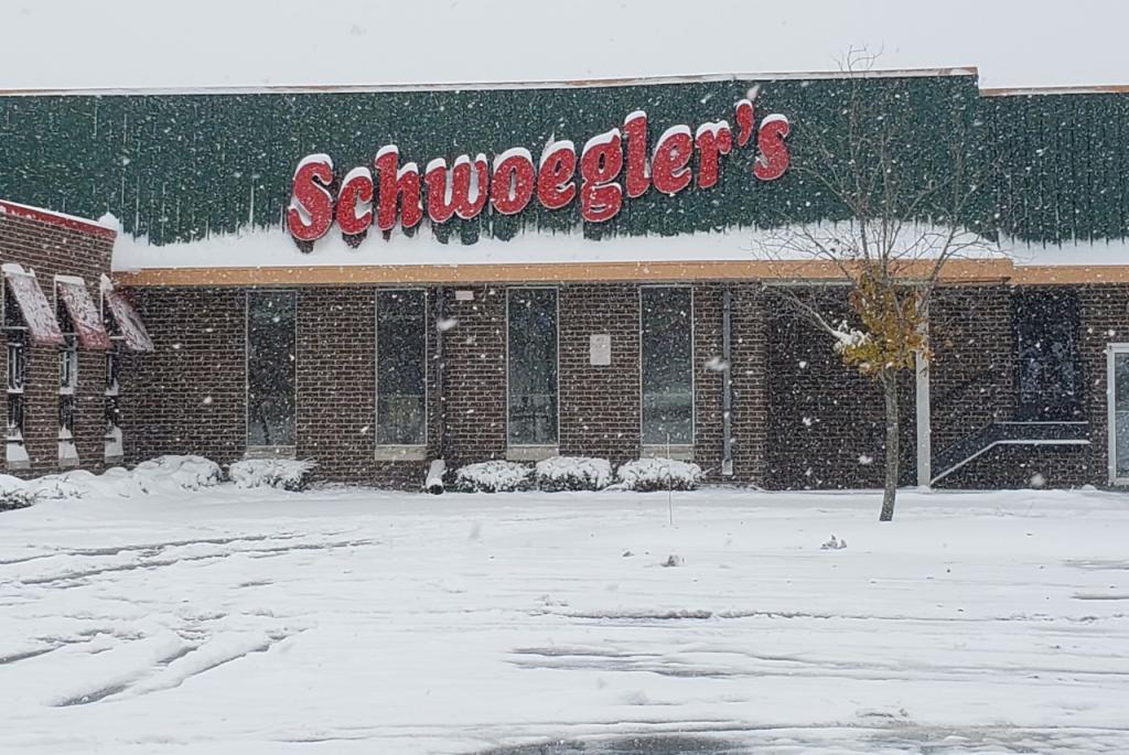 Schwoegler's Sign in Snow