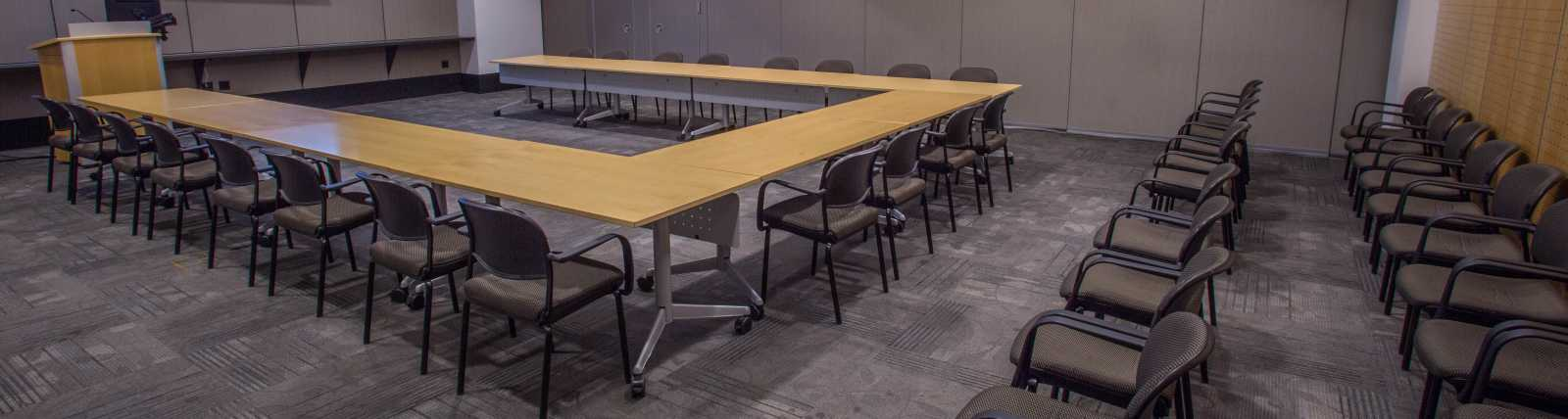 Beijing conference room in a u-shape plus audience seating
