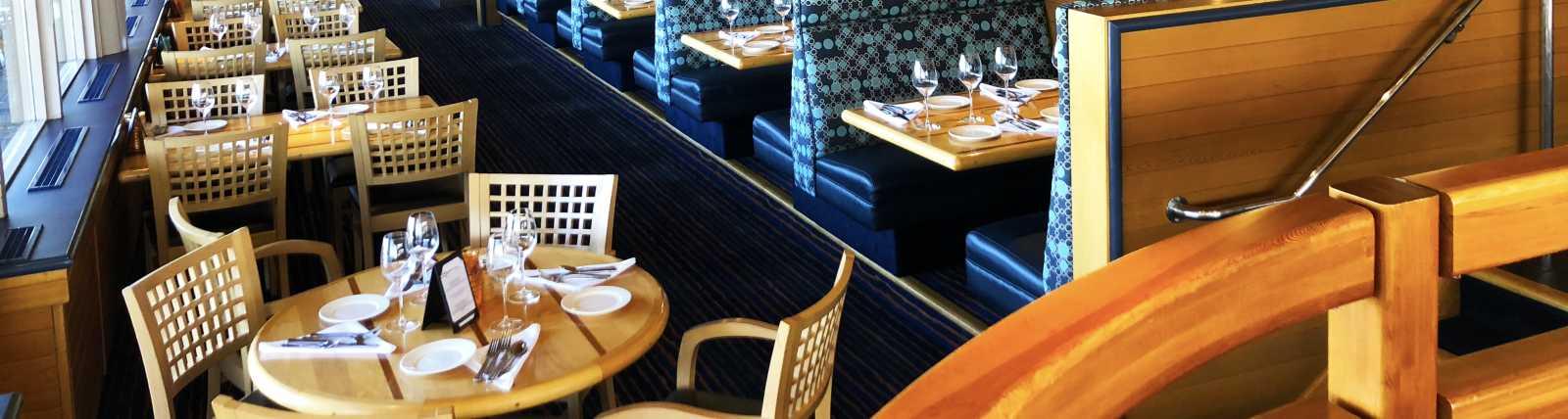 Interior upstairs dining room