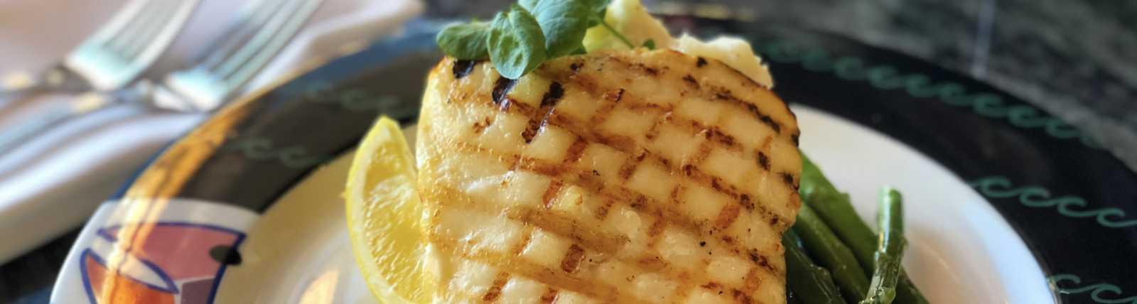Fresh Alaska Halibut with Lemon Beurre Blanc and Fresh Chive Oil