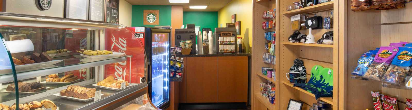 Cafe featuring Starbucks