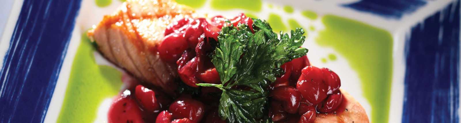 Salmon Cherry Compote by Ilya Moshenskiy (ilyaphoto.com)